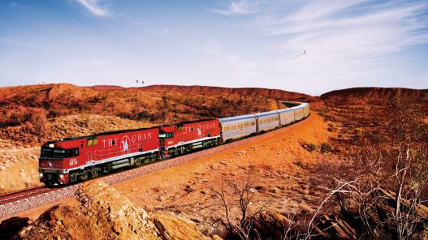 The Ghan makes a historic 2949-kilometre journey through central Australia.