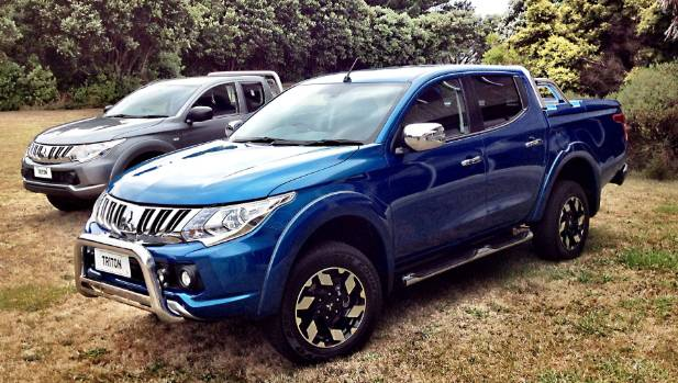 2015 Mitsubishi Triton: Crisper styling works well. The bars, alloy wheels, deck cover and running boards are part of a ...