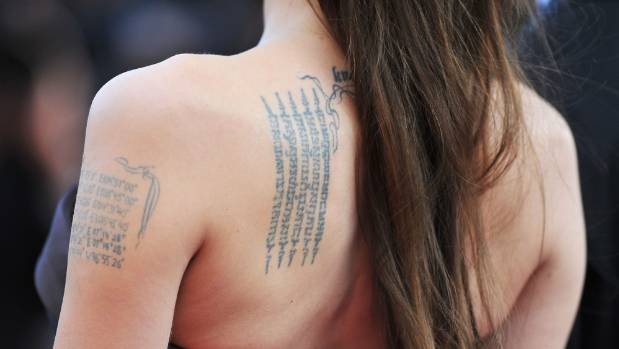 Tattoo fan Angelina Jolie could have experienced some additional health benefits thanks to her love of ink.