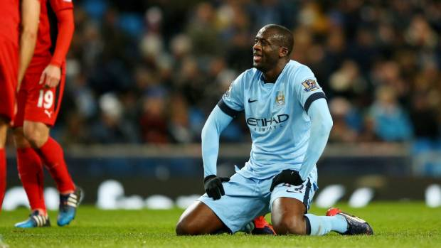 TAUNTED:  Yaya Toure of Manchester City has been one of football's many victims of racist abuse while on the pitch.