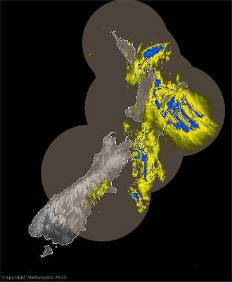 DELUGE: Heavy rain covers Gisborne and Hawke's Bay as well as the western Bay of Plenty and the tip of Great Barrier ...