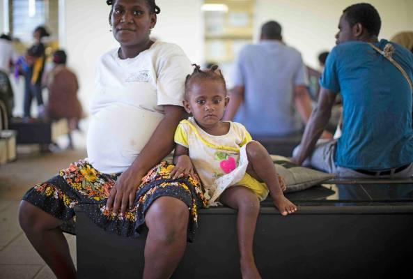 Inside Port Vila hospital.