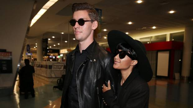 FLYING OUT: Former X Factor judges Willy Moon and Natalia Kills were spotted at Auckland International Airport late on ...