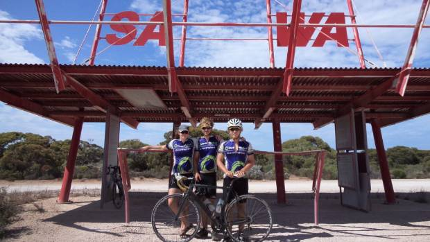 An epic cycle across Australia kept University of Waikato students Maddie Hansen, Tim Chittock and brother Hugh Chittock ...