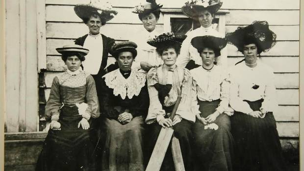 Do you know any of these women? ?The portrait is on display at Waikato Museum.