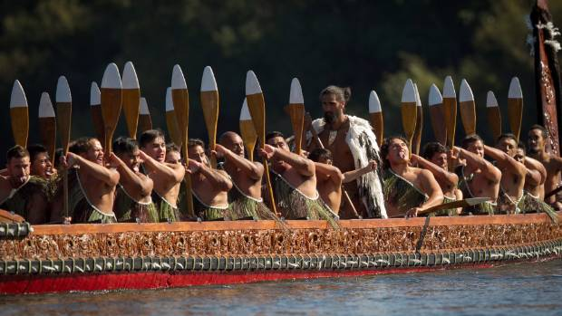 Competitors in the 2014 Turangawaewae Regatta looking fierce on the Waikato River.