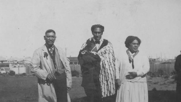 SURFING ROYALTY: Duke Kahanamoku, left,  is given a Maori cloak by Ngati Tuwharetoa chief Te Heuheu Tukino V, on left.  ...