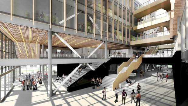 The proposed Regional Science and Innovation Centre at the University of Canterbury, to be built by Fletcher Construction.