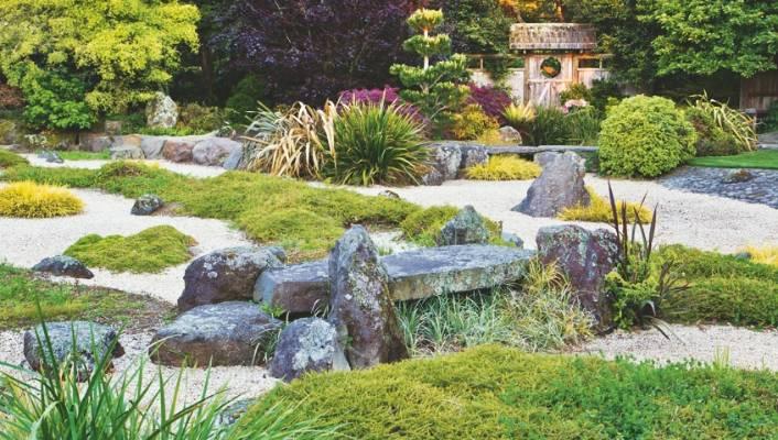 Rocks Are Carefully Placed Amid Gravel And Natives In This Japanese Themed  Taranaki Garden