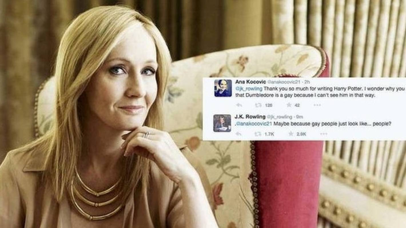 These tweets memes about jk rowling explaining dumbledore's sexuality are so over it
