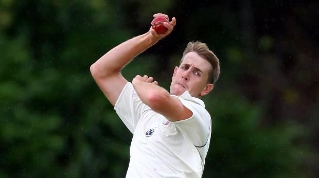 BIG IMPACT: Auckland's Matt Quinn took the wickets of Doug Bracewell and Ben Wheeler to finish with 2-77.