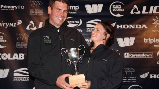 Southland-Otago Sharemilker-Equity Farmers of the Year Jono and Kelly Bavin.