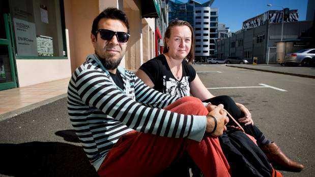 Musti Cilekar and Kirsty Webster Cilekar where they left their car, on Tennyson St in central Wellington. The car has ...