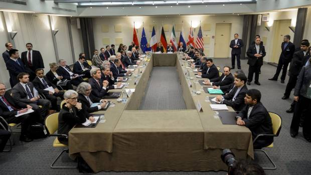 European Union officials and Iranian officials gathered in Lausanne, Switzerland.