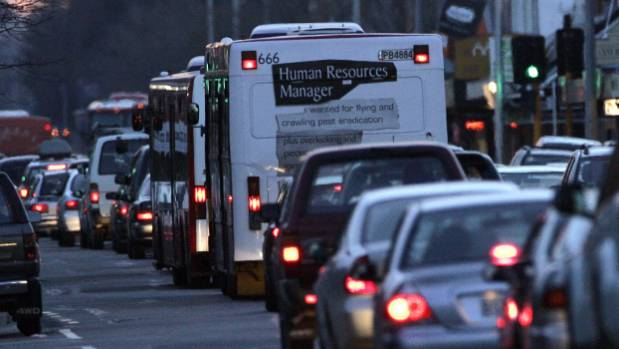 Buses can take from 3 to 30 minutes to travel from the mall in Riccarton to the hospital.