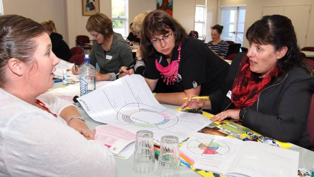 L-R  Convenor,Tyler Langford  with Katrina Thomas and Penny Muller at the  Dairy Womens Action Planning Workshop held in ...