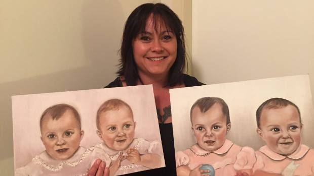 Lisa Webster is trying to find the twins who are in these portraits from Twizel in 1980.