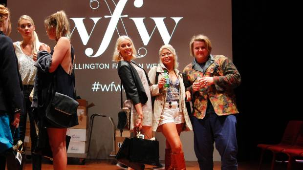 Janna Saouda, left, Blaire Rooney and Madeline Austin from Rooney Clothing were some of the designers at Wellington ...