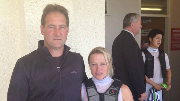 Riverton trainer Kelvin Tyler and wife Rebecca.