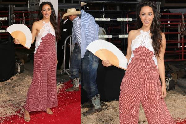 THE BAD: This Stella McCartney jumpsuit is almost a pass - what with Oona Chaplin's general beauty, her wonderful hair ...