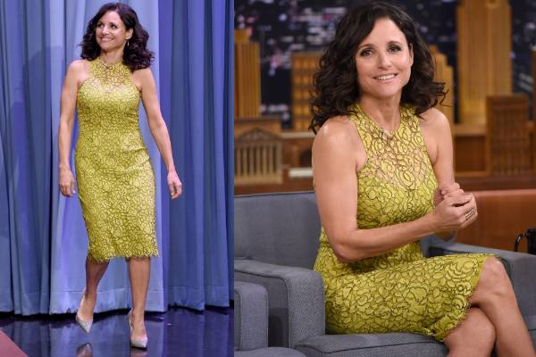 THE GOOD: Julia Louis Dreyfus - who's set to take over the Oval Office in Veep soon, can't wait! - looks every inch the ...