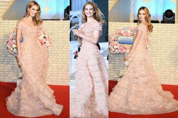THE BEST: This frothy, dusky-pink number by Elie Saab is a fitting choice for the Tokyo premiere of Cinderella. It's ...