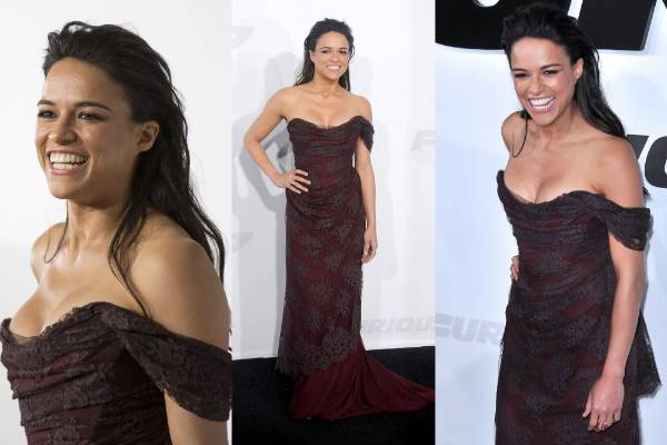 THE GOOD: Here's Michelle Rodriguez also wearing a dress by Vivienne Westwood. I love how Michelle has managed to add a ...