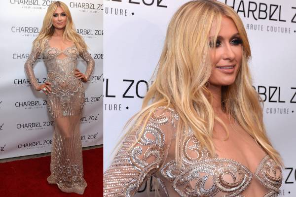 THE BAD: Paris 'Donatella Hair' Hilton channels her future Madame Tussauds wax model in this Charbel Zoe Couture dress. ...