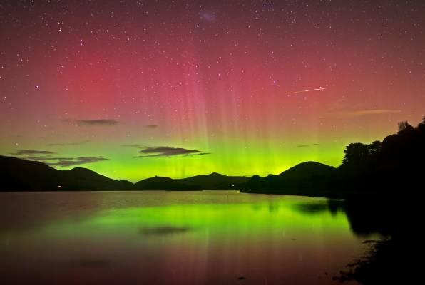The Aurora Australis from the Otago Peninsula.