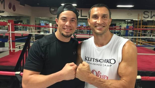 Joseph Parker sparred extensively with Wladimir Klitschko in the United States in 2015.