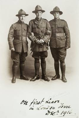A photo of the Bridge Brothers, with Hugh Bridge on the right. Hugh is one of four faces of WWI soldiers being used on ...