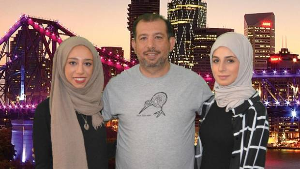 Nada Tawfeek, left, with father Sherif and sister Hannah,