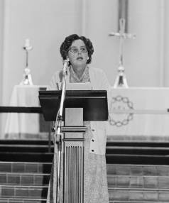 Moral campaigner Patricia Bartlett gives Catholics a tongue-lashing for their slipping standards during a Lent address ...