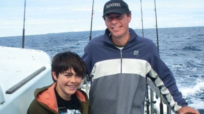 Derek Hager junior with his son Brad