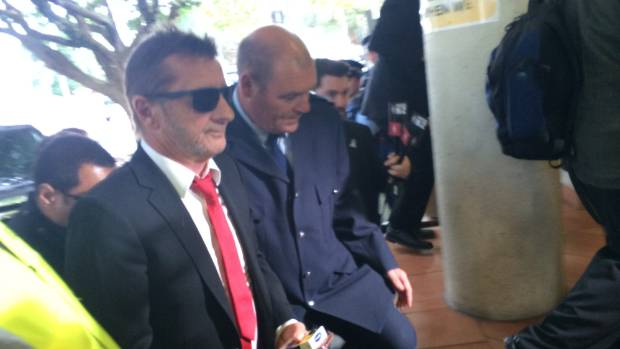 Phil Rudd arrives at court.