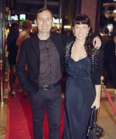 Director Chris Pryor and producer Miriam Smith at the premiere of The Ground We Won in Auckland