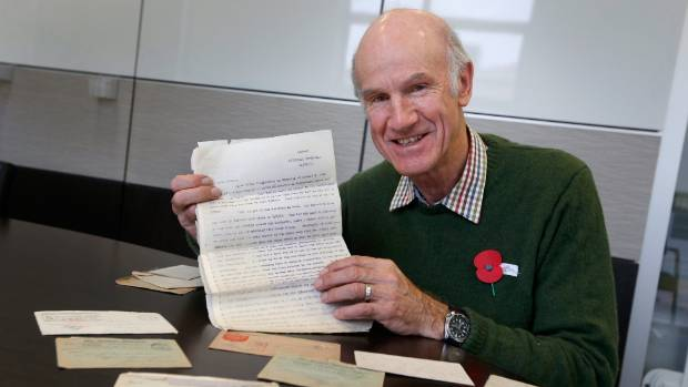 John Parsloe is ecstatic about rediscovering a bundle of WWI letters of his great uncle, Timaru's Hedley Ferrier.