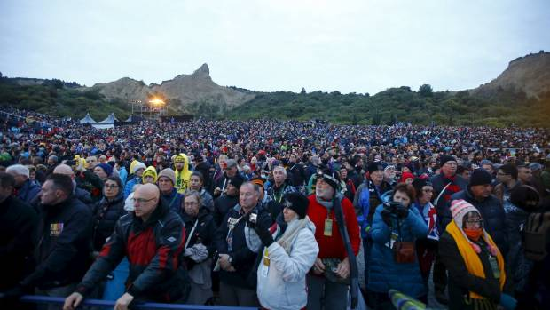A crowd of about 10,000 attended the Anzac Day ceremony at Gallipoli.