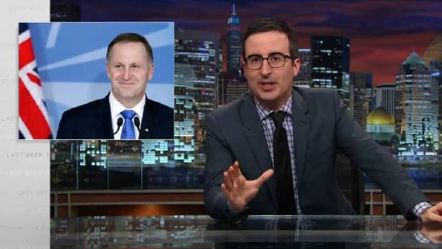 Prime Minister John Key's ponytail-pulling antics have earned him a spot on US comedy show Last Week Tonight.