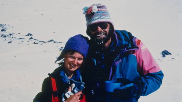Jan Arnold and Rob Hall on Everest in 1993.