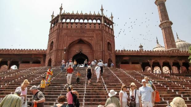 The Jama Masjid is the best-known mosque in India.