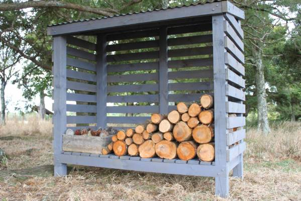 The Finished Product: A Shed To Keep Your Firewood Dry Over Winter.