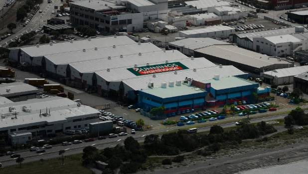 An artists impression of the aerial view of the Te Puni Mail Centre, set to become a retail hub.