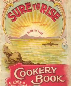 History books: an early edition of the much-loved Edmonds Cook Book.