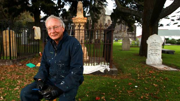 Taranaki Cathedral Church of St Mary parishioner John Pickering has just completed a three year graveyard clean up.