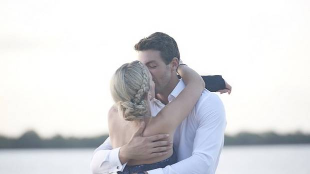 """The Bachelor Arthur Green posted on Instragram a photo of him snogging Matilida Rice capturing it """"I won. @matootles"""""""