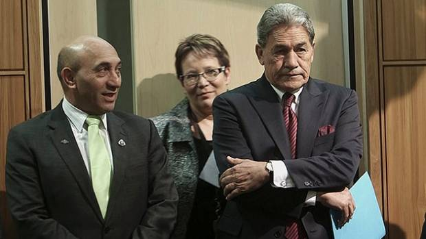 NZ First leader Winston Peters with his deputy Ron Mark who ousted Tracey Martin for the job.