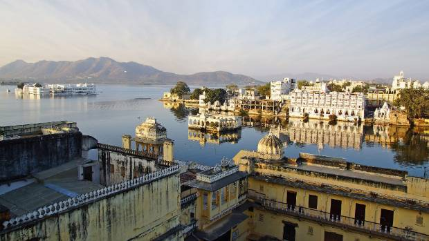 Udaipur's lakeside palace complex.