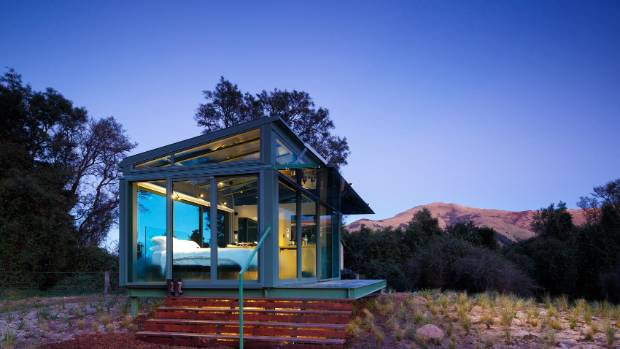 Purepod glass house holiday home firm expands for Holiday home designs new zealand