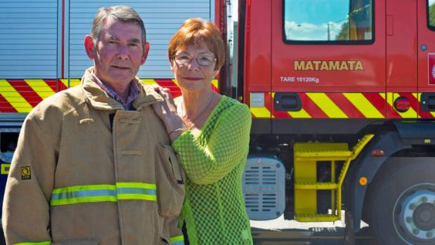 Brian (former Matamata fire chief) and Sandra Hunter are one of several fronting a campaign against family violence.